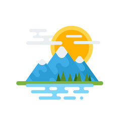 Flat style of canadian mountain vector