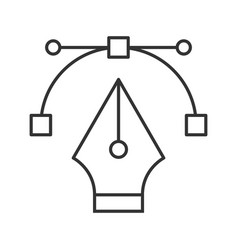 Fountain pen nib linear icon vector