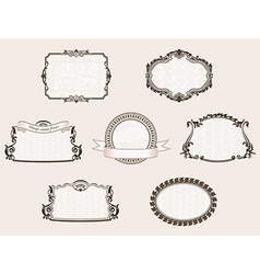 framework set Ornate and vintage decor elements vector image