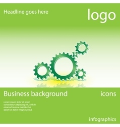 gear business background vector image