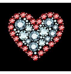Gem Heart vector image