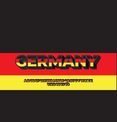 Germany flag color 3d text design templates vector