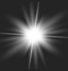glow light burst explosion vector image