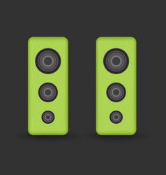green music speakers vector image