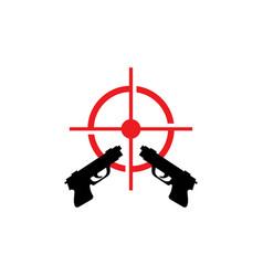 gun template icon vector image