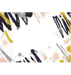 horizontal backdrop with abstract yellow and black vector image