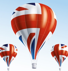 Hot balloons painted as British flag vector