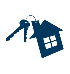 house and keys icon isolated on white background vector image