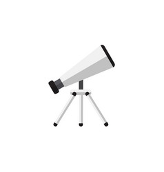 isolated telescope flat icon scope element vector image