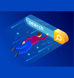 isometric search bar modern concept search engine vector image