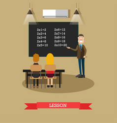 lesson concept in flat style vector image