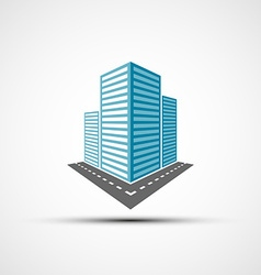 Logo of the real estate vector image