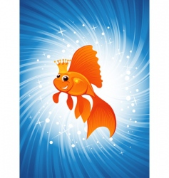 magic goldfish vector image