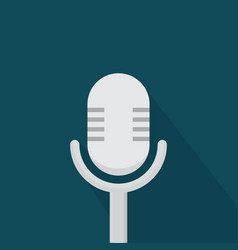 microphone icon set of great flat icons with vector image
