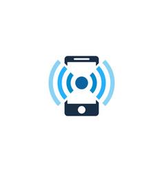 Mobile wifi logo icon design vector