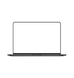 Modern laptop mock up vector