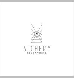 Monogram alchemy logo design stock vector