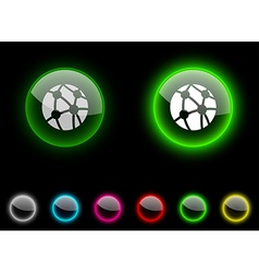 Network button vector image