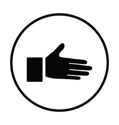 Open hend icon vector image