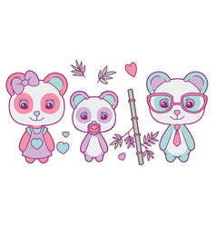 panda mix vector image