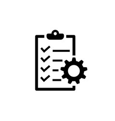 Project management icon to do list symbol vector