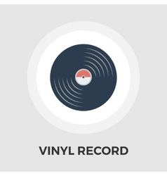Record flat icon vector image