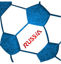 Russia soccer ball background vector