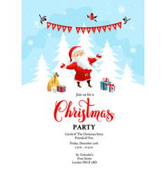 santa claus holiday winter vector image