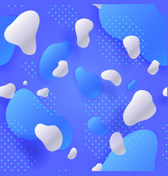 seamless pattern of liquid shapes blue gradient vector image