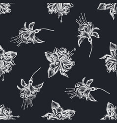 seamless pattern with hand drawn chalk fuchsia vector image