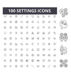 settings line icons signs set outline vector image