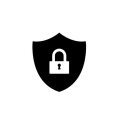 shield security icon black vector image