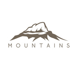 simple abstract mountains vector image