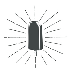 Simple vintage retro classic ice cream icon vector image vector image