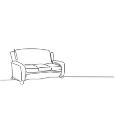 single continuous line drawing vector image