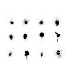 spray brush splatter set vector image
