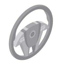 Steering wheel icon isometric style vector