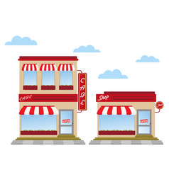 store fronts vector image