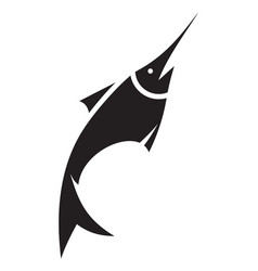 sword fish icon vector image
