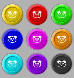 Teddy Bear icon sign symbol on nine round vector