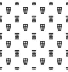 Trash basket pattern simple style vector