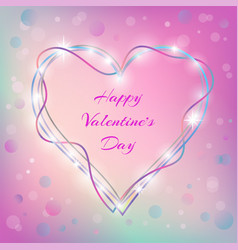 valentines day colorful festive greeting card vector image