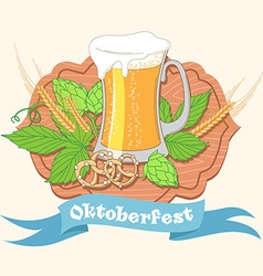 Vintage poster or greeting card for Oktoberfest vector image