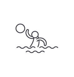 Water volleyball line icon concept water vector