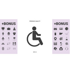 Wheelchair handicap icon - graphic elements for vector