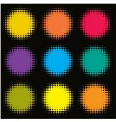 halftone spots vector image vector image