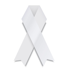 modern white ribbon on white background vector image vector image