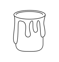 paint can colo thin line vector image