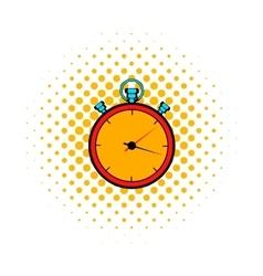 Stopwatch comics icon vector image vector image