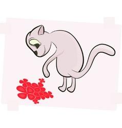 cartoon cat vector image vector image